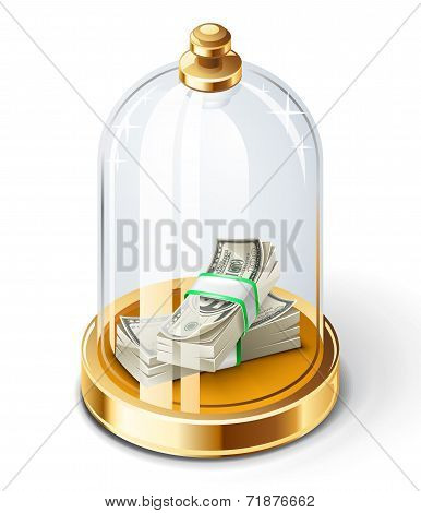 Dollars Under The Glass Dome
