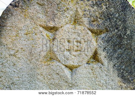 Star Of David On The Old Gravestone