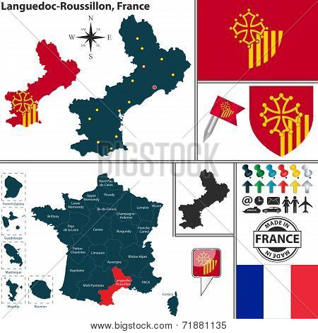 Map Of Languedoc-roussillon, France