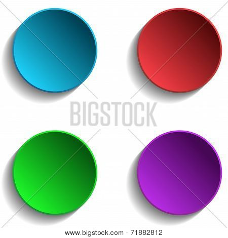 Set of Colorful Circle