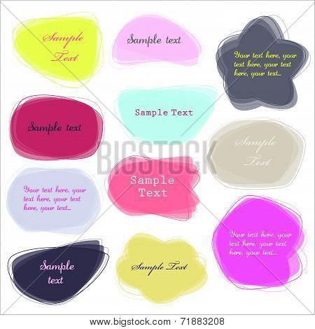 Colorful labels - speech bubbles set