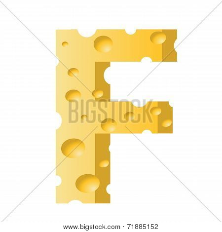 Cheese Letter F