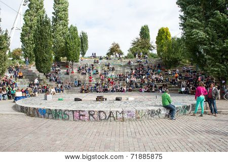 Mauerpark, Berlin, German