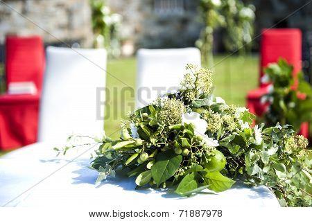 Outdoor Wedding In The Castle