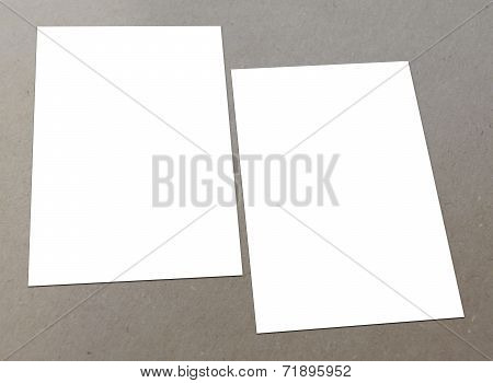 Blank white flyer