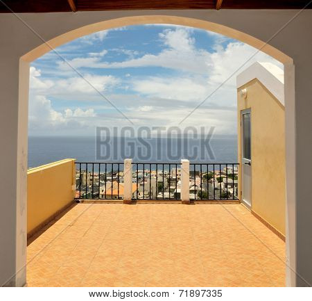 Arched Doorway On Rooftop