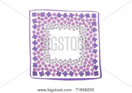 Cloth With Purple Flowers