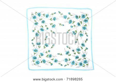 Cloth With Blue Flowers