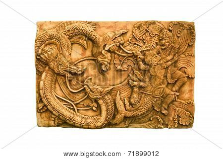 Dragons And Monkey Sculpture