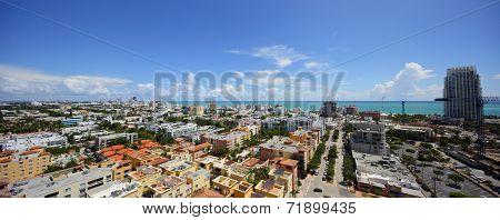 Miami Beach aerial panoramic