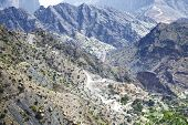 picture of jabal  - Image of road on Jebel Akhdar Saiq Plateau in Oman - JPG