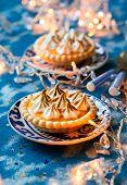 foto of curd  - Mini orange curd and meringue tartlets for holiday - JPG