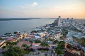 picture of guayaquil  - High view of the city of Guayaquil and it - JPG