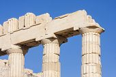 pic of parthenon  - The columns of Parthenon the temple in the Acropolis of Athens in Athens Greece - JPG