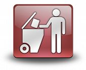 pic of dumpster  - Icon Button Pictogram with Trash Dumpster symbol - JPG