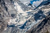 stock photo of italian alps  - Trentino Alto Adige Italian Alps - The Ortles glacier,Europe.