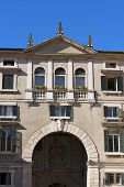 stock photo of pilaster  - Domus Nova or Palazzo dei Giudici  - JPG