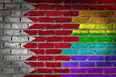 stock photo of bahrain  - Dark brick wall texture  - JPG