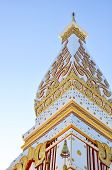 stock photo of rn  - Wat Phra That in Nakhonphanom provincenortheaste rn of Thailand - JPG