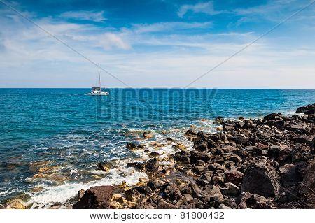 Yacht Near The Greek Islands