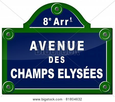 Paris Avenue Sign