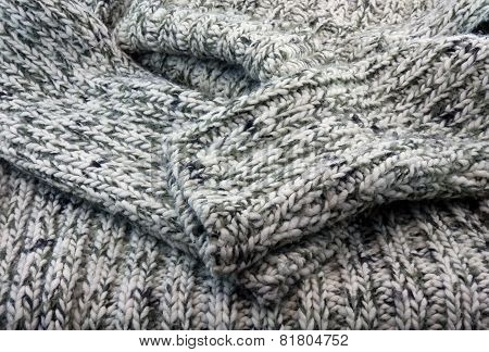 The Part  Of  Sweater Knitted Wool.