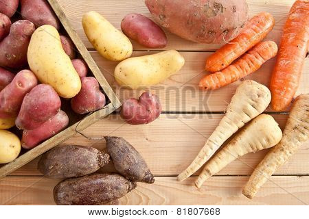 Variety Of Winter Vegetables