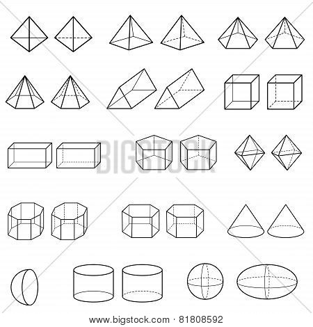 3D Geometric Shapes Vector.eps