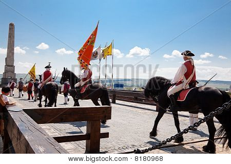 The Guard Change At Alba Iulia Fortress