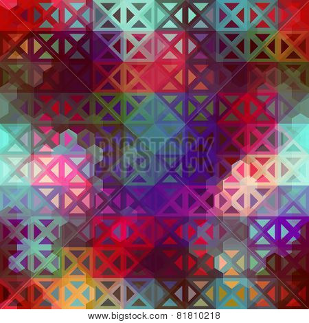 Geometric pattern of triangles.