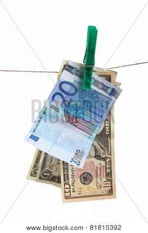 Money Laundering Concept. Isolated On White Background