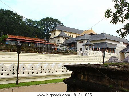 Wall and Royal Palace, the temple of tooth relic, Kandy