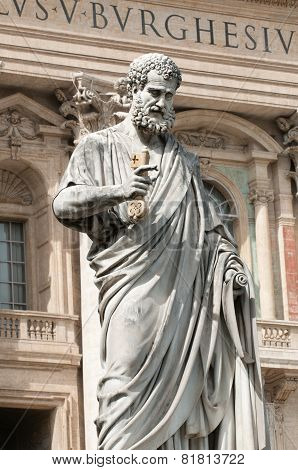 Sculpture Of Saint Peter, Vatican