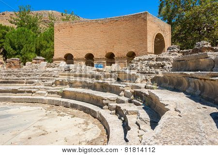 Ruins Of Odeon. Gortyn, Crete, Greece
