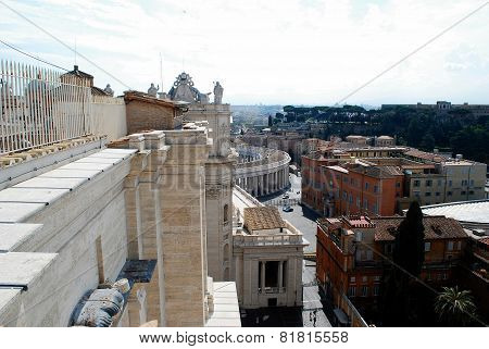 View Of Top Of St Peter Basilica Roof On May 31, 2014