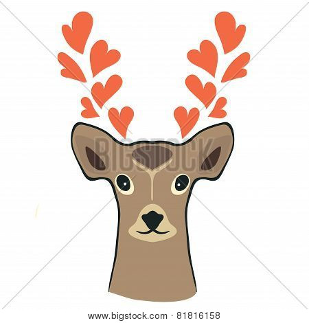 Deer with hearts