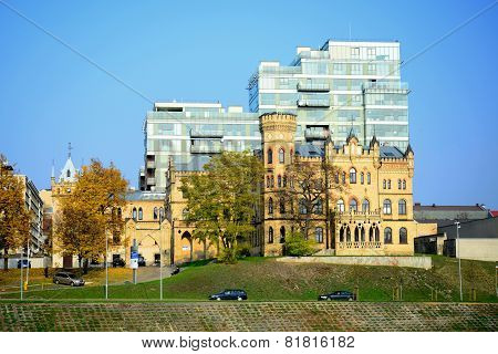 Palace Of Lithuanian Architects Union In Vilnius City At Autumn Time