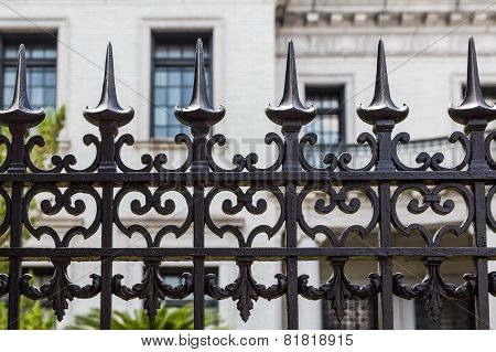 Wrought Iron Fence Detail