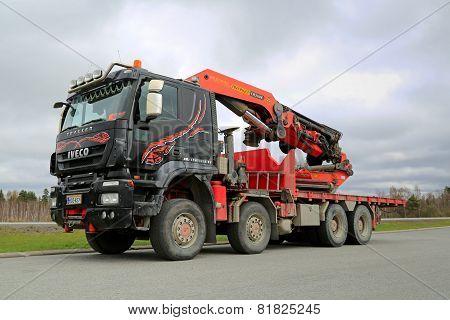 Iveco Trakker With Truck Mounted Palfinger Crane