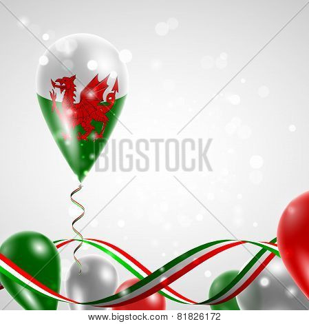 Flag of Wales on balloon