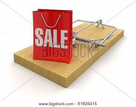 Mousetrap and bag sale (clipping path included)