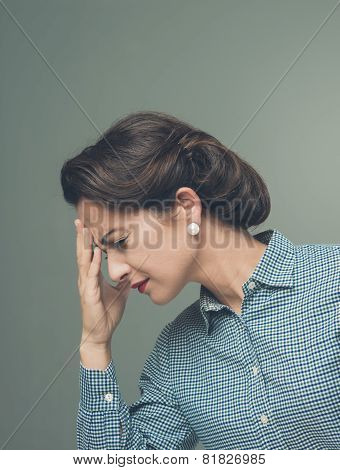 Vintage Woman With Headache