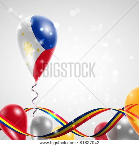 The flag of the Philippines on balloon