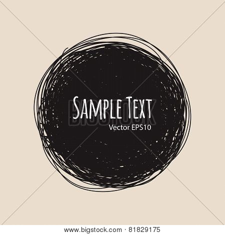 Round Doodle Vector Background