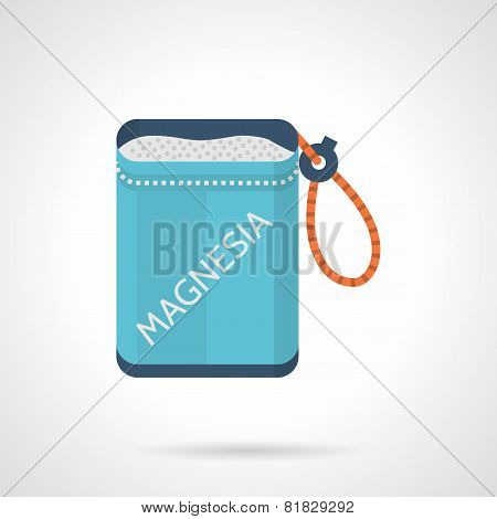 Colored magnesia bag flat icon