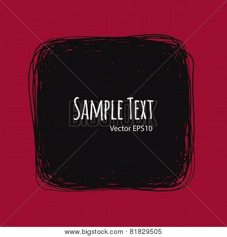 Square Doodle Vector Background