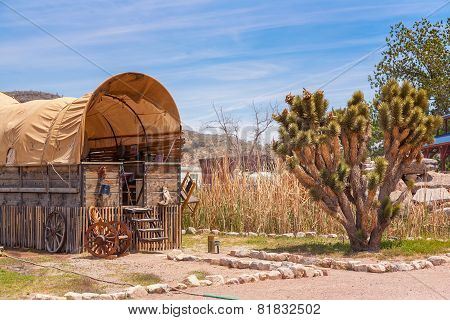 Horse barn with blue sky