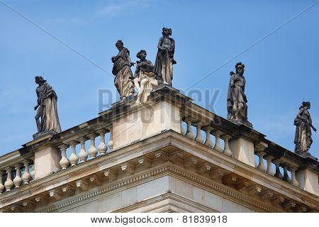 Statues On New Palace Sans Souci