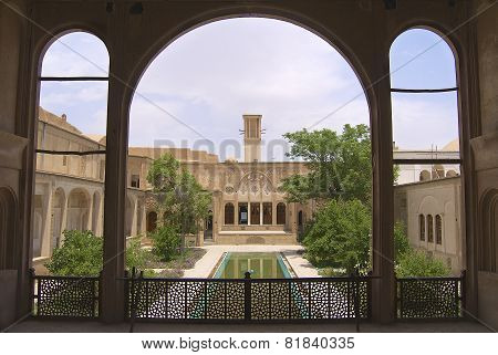 Exterior of the Lari house in Yazd, Iran.