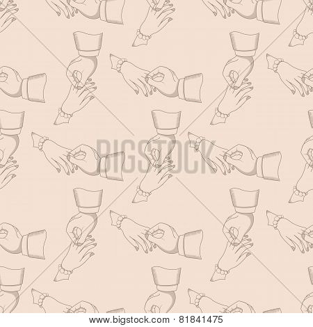 Vector Vintage Pattern Men And Women Hands